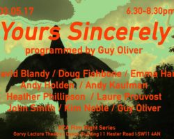 Yours Sincerely  (film screening)